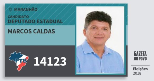 Resultado de imagem para MARCOS CALDAS do PTB