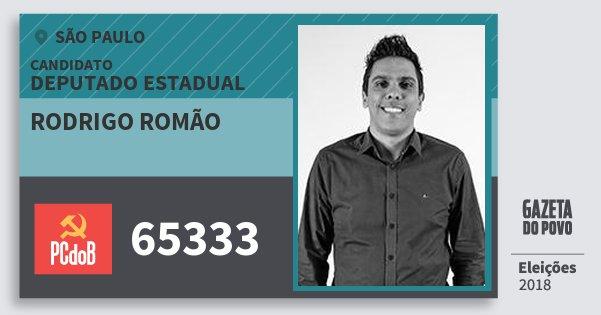 Resultado de imagem para Rodrigo Romão (PCdoB)