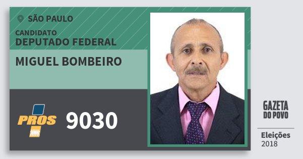 Resultado de imagem para Miguel Bombeiro (PROS)
