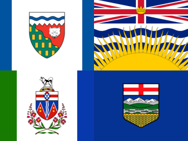 Alberta, British Columbia, Yukon, Northwest Territories