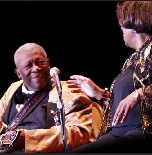 Shirley King with B.B. King