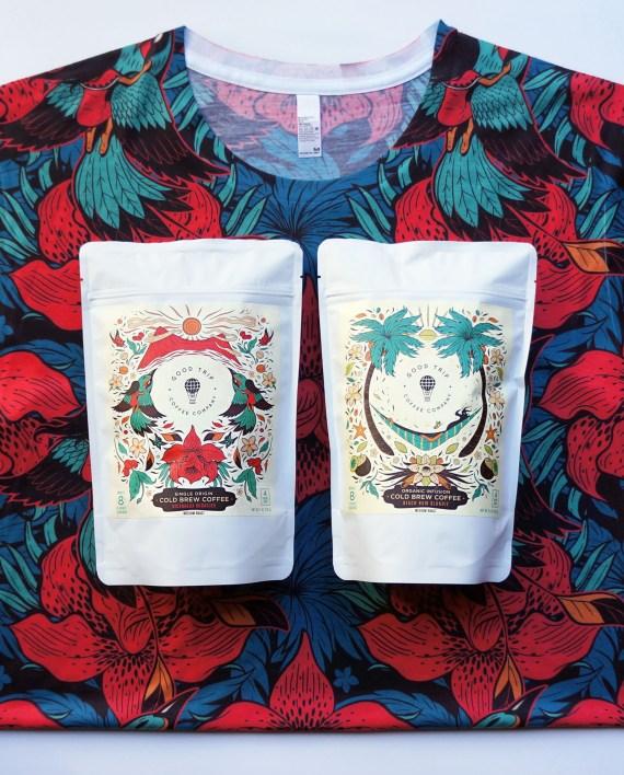 Good Trip Wild Orchid shirt Nicaragua Miraflor Beach Bum Blondie cold brew