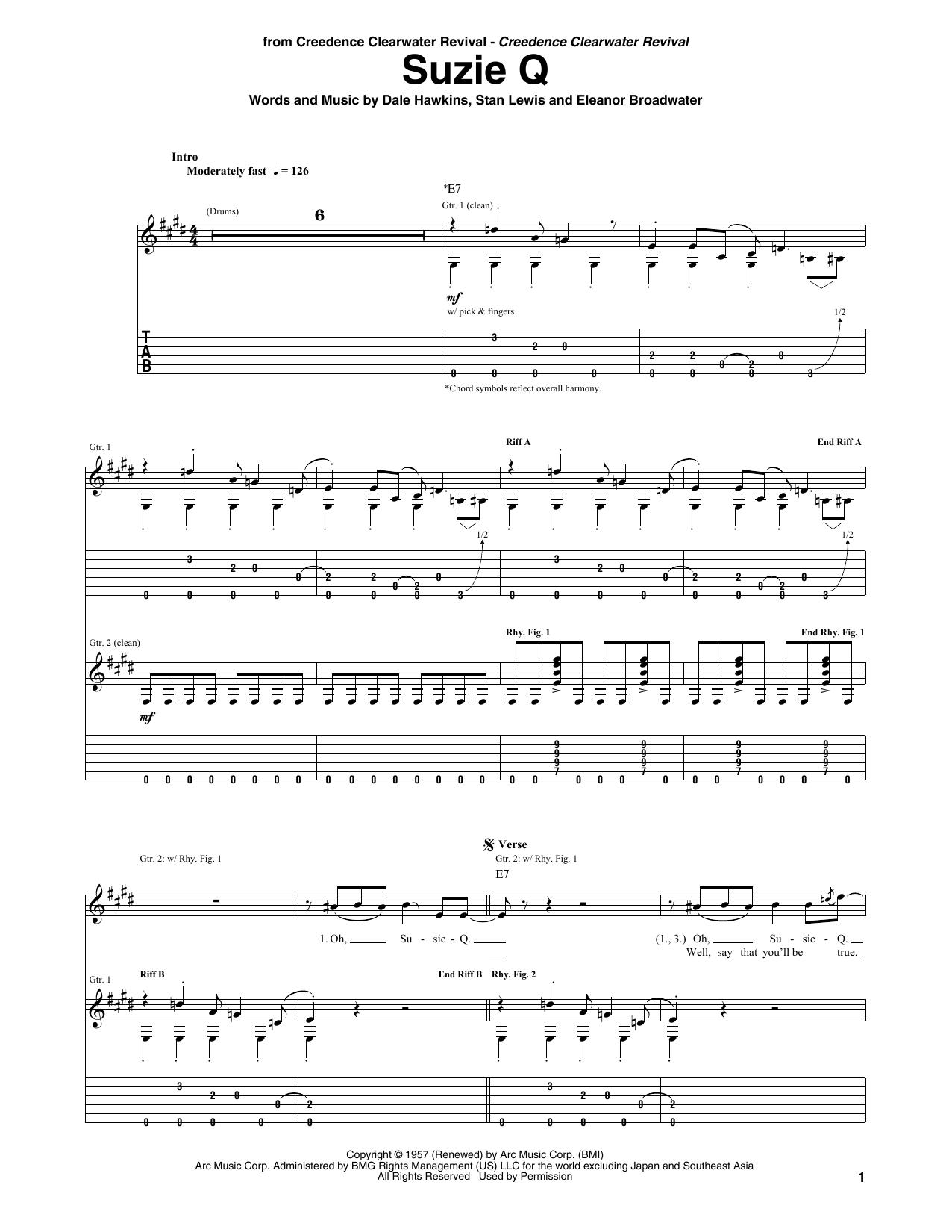 Susie Q Sheet Music