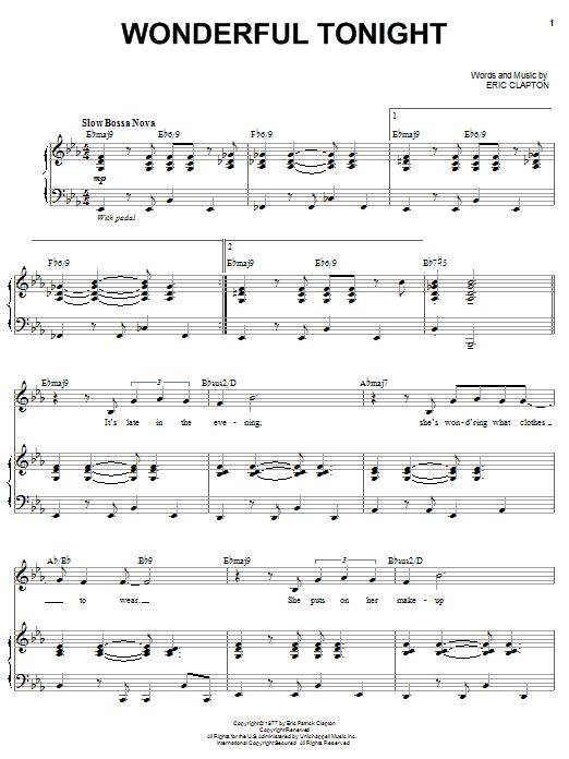 Wonderful Tonight Sheet Music | Michael Buble | Piano ...