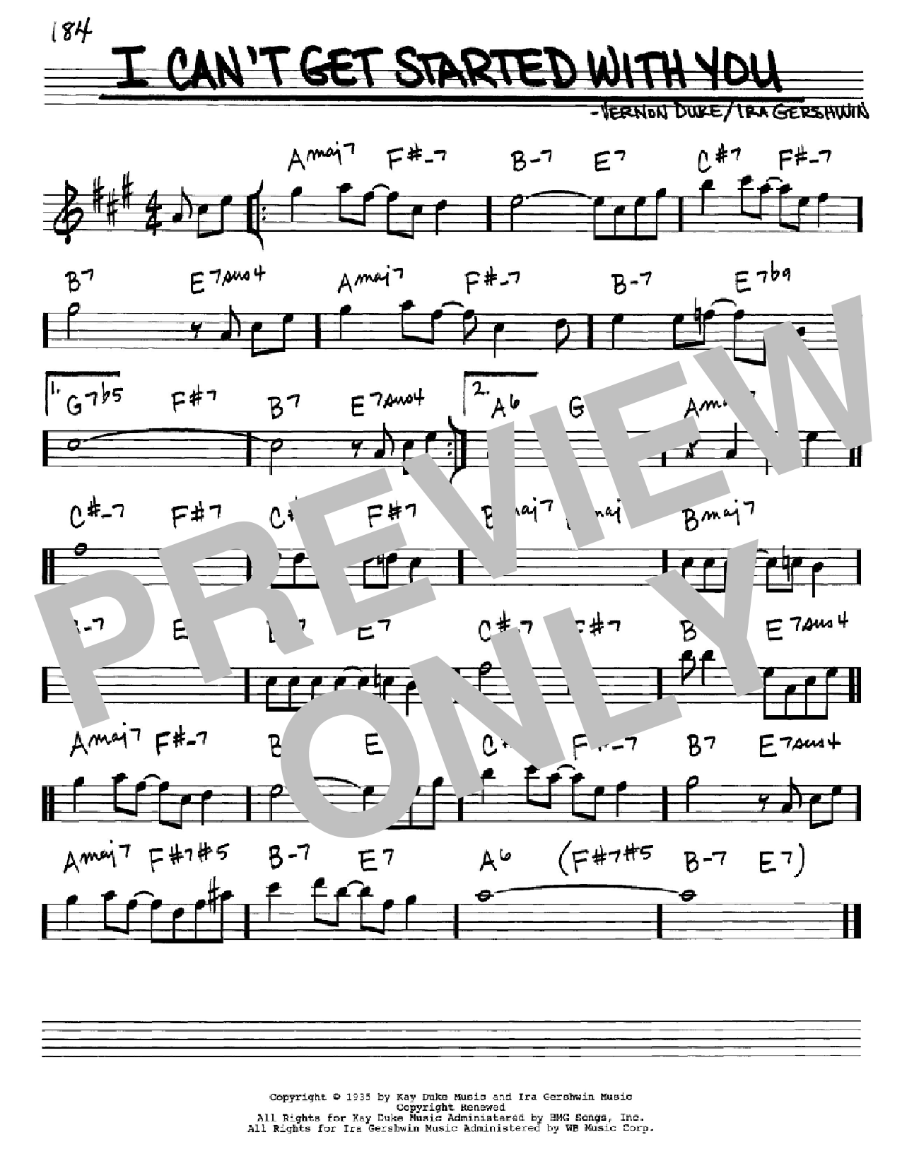 I Can T Get Started With You Sheet Music