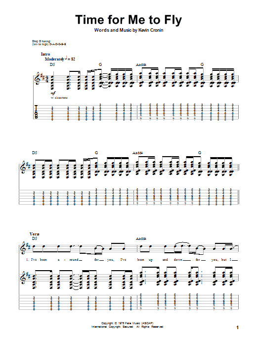Time For Me To Fly Sheet Music Direct