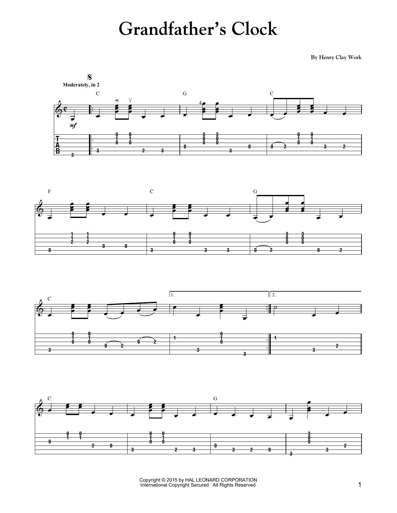 Grandfather S Clock Sheet Music