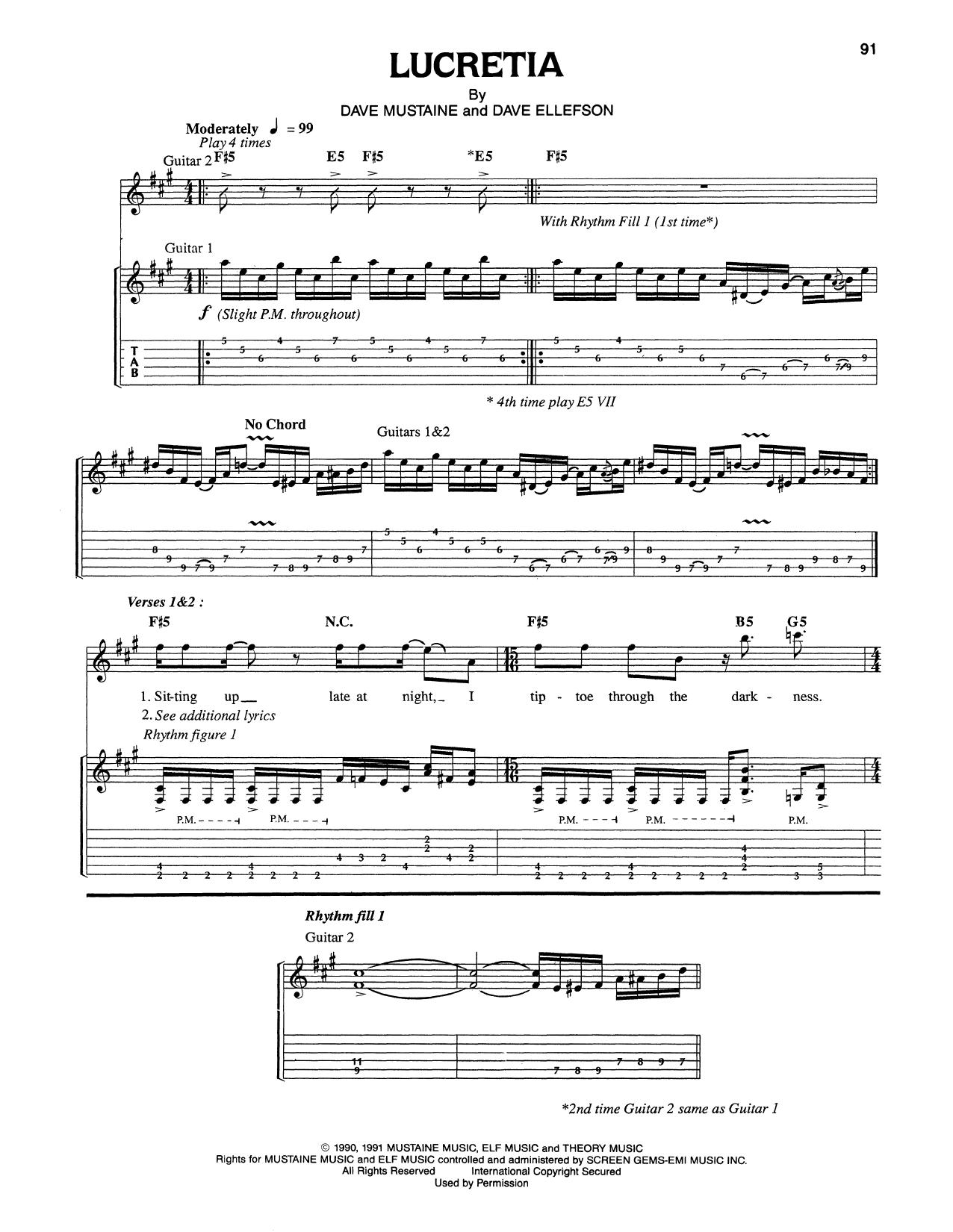 Lucretia Sheet Music