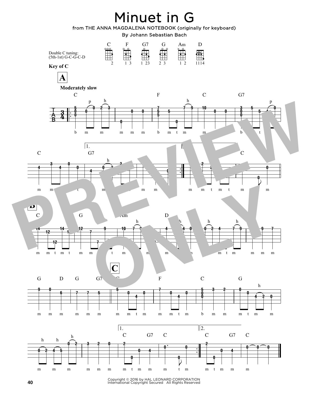 Minuet In G Sheet Music