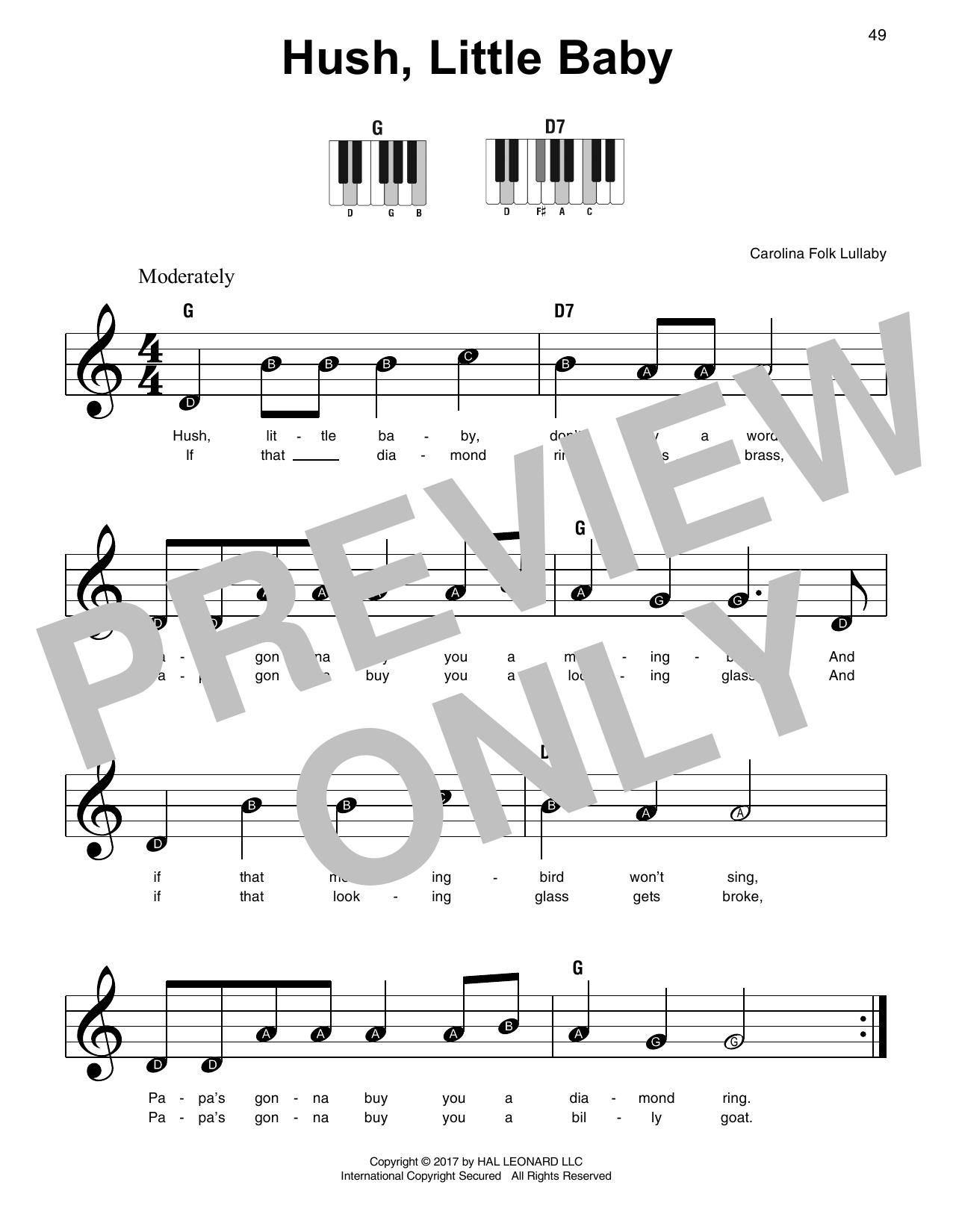 Hush Little Baby Sheet Music