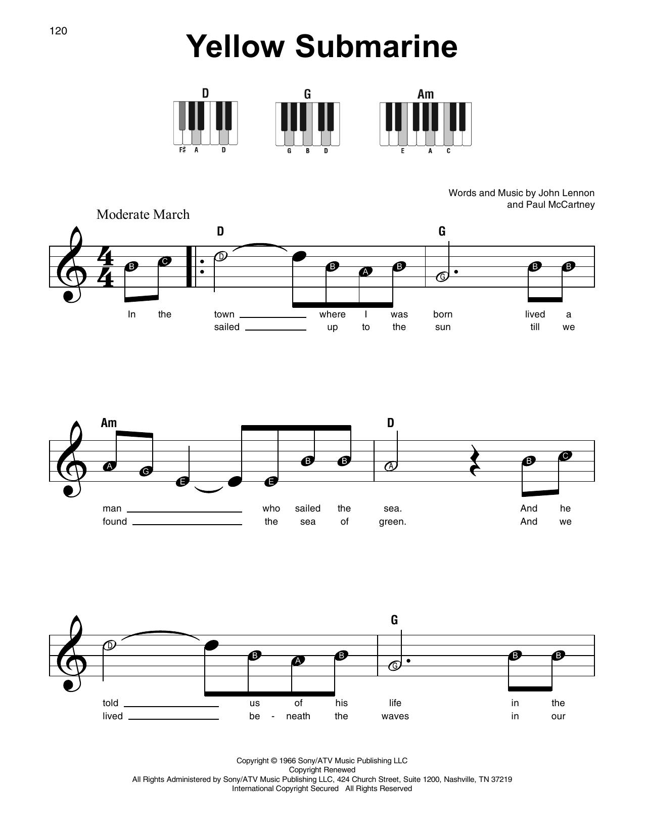 Yellow Submarine Sheet Music