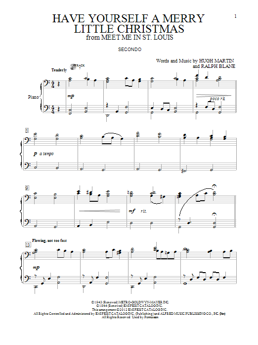 have yourself a merry little christmas sheet music by hugh martin - Have Yourself A Merry Little Christmas Chords