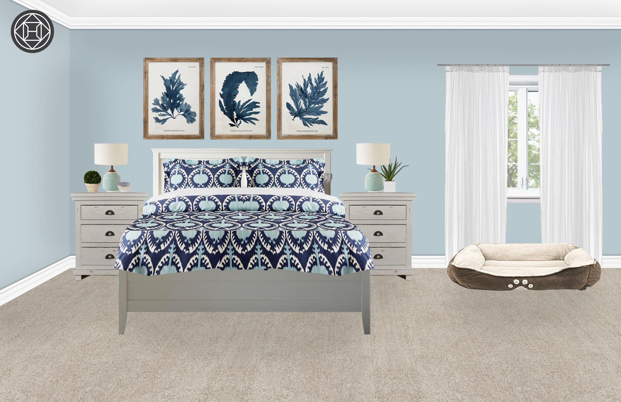 Classic Coastal Bedroom Design By Havenly Interior Designer