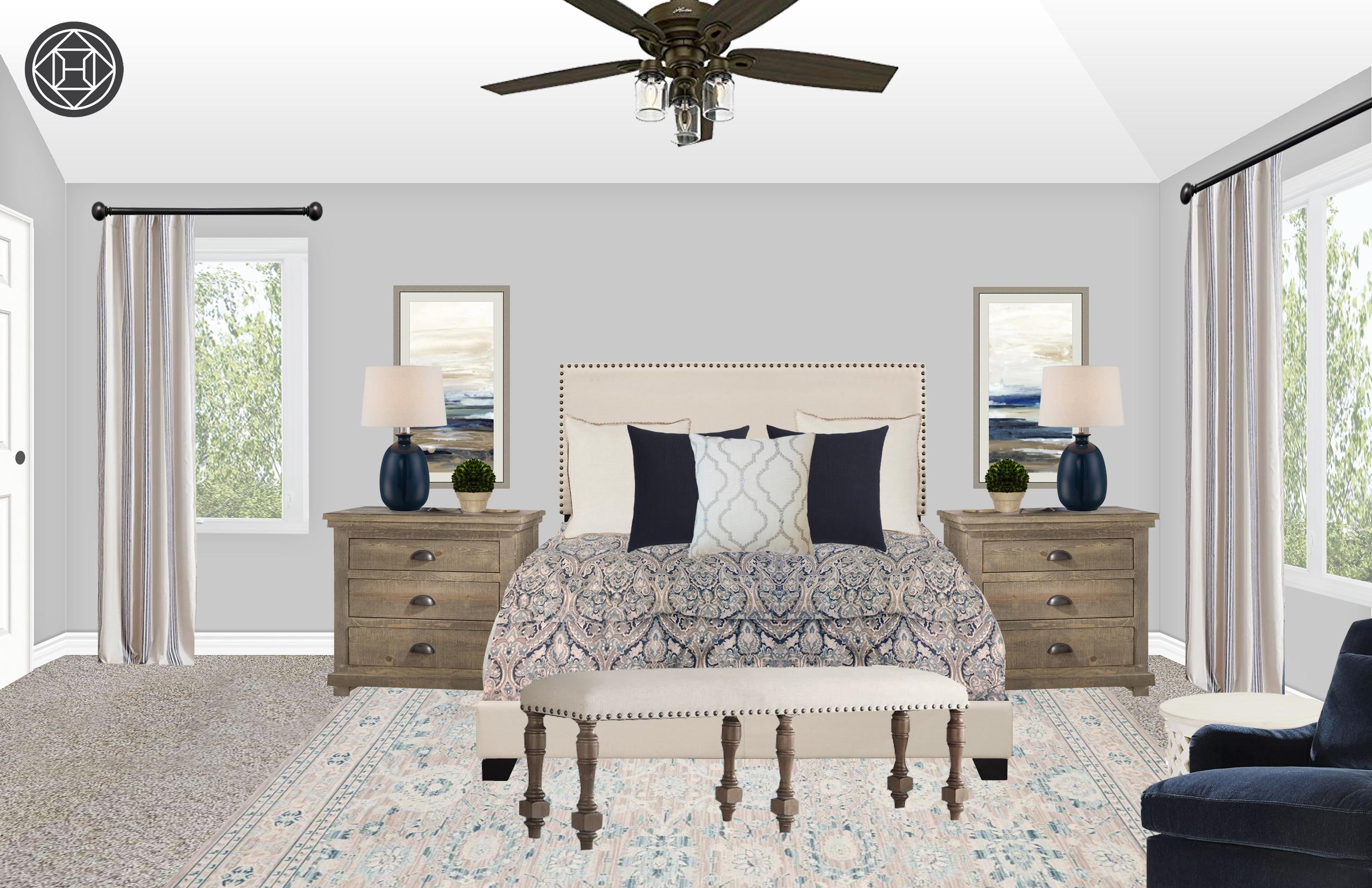 Classic Rustic Bedroom Design By Havenly Interior Designer