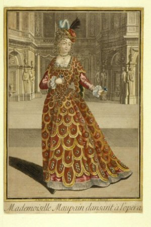 Julie d'Aubigny in her opera-singing years - one of the few pictures of her from her lifetime that survives - HeadStuff.org