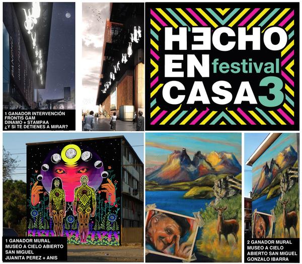 Festival de Intervenciones Urbanas Hecho en Casa 3, del 25 al 31 de mayo 2015 en la ciudad de Santiago de Chile