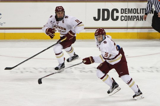 Cangelosi, Eagles Skate By Badgers In Home Opening Rout
