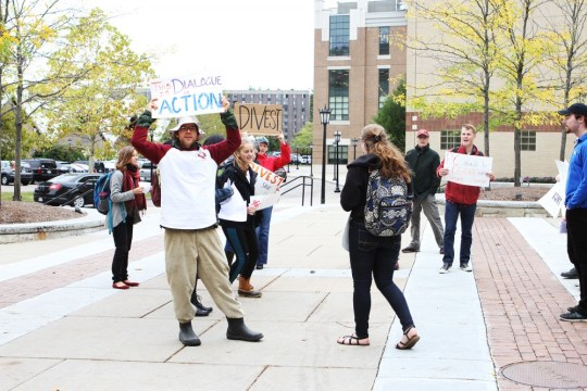 Low Turnout Marks First Registered March For Climate Justice at Boston College