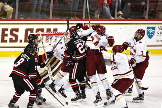 Eagles Can't Hold Leads In Frustrating Tie With Northeastern