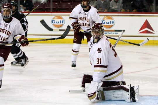 Behind Solid Woll, Men's Hockey Defeats No. 14 Providence