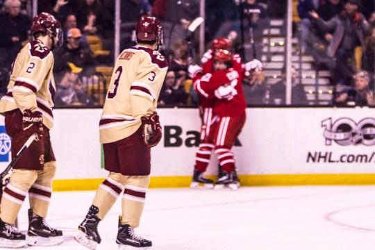 Poor Offense Burns Men's Hockey Against BU in Beanpot Opener