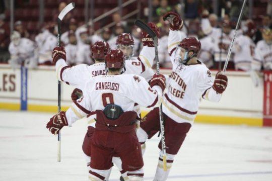 Power-Play Success Lifts Men's Hockey to Hockey East Semis