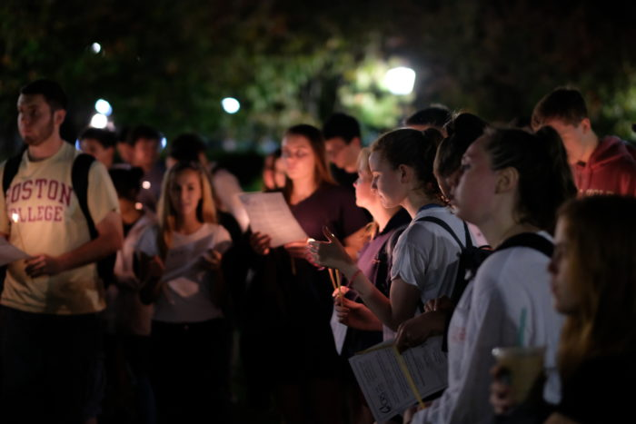 Students Hold Vigil for Victims of Recent Disasters, Las Vegas Shooting