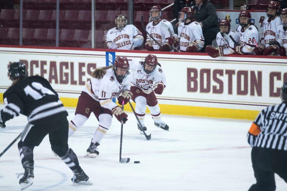 Watts, Lonergan Headline Most Prolific Team in College Hockey