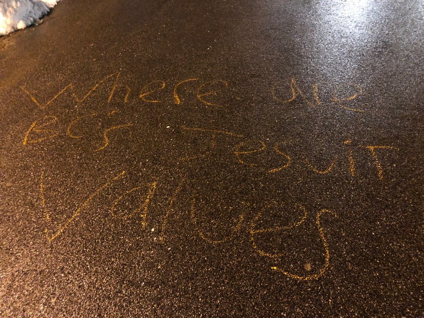 Two Students Accused of Property Damage For Chalking