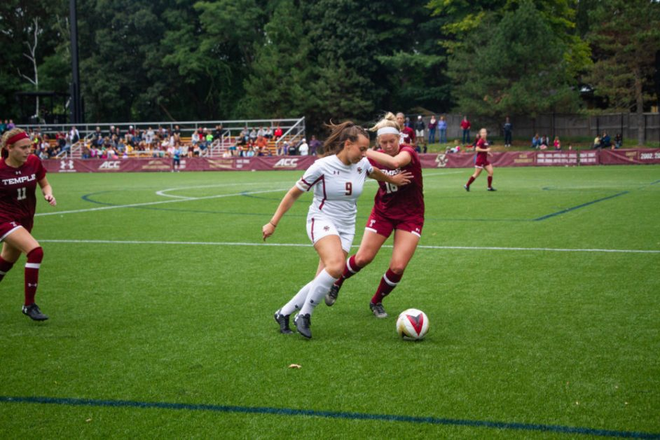 BC Concedes Goal, But Records Eighth-Straight Win With Rout of Temple