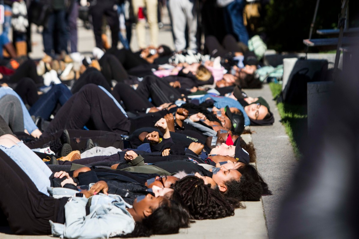 Die-In on the Quad Pictures
