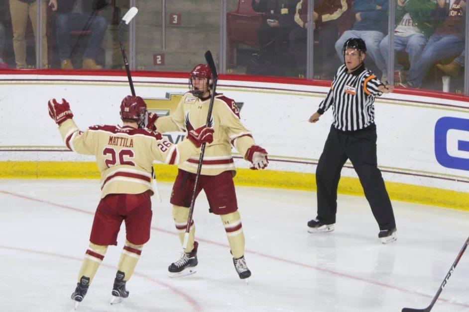Cotton-Mattila-Hutsko Line Continues to Star in Win Over Vermont