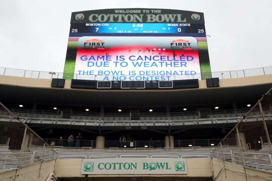 SERVPRO First Responder Bowl Canceled, Ruled 'No-Contest'