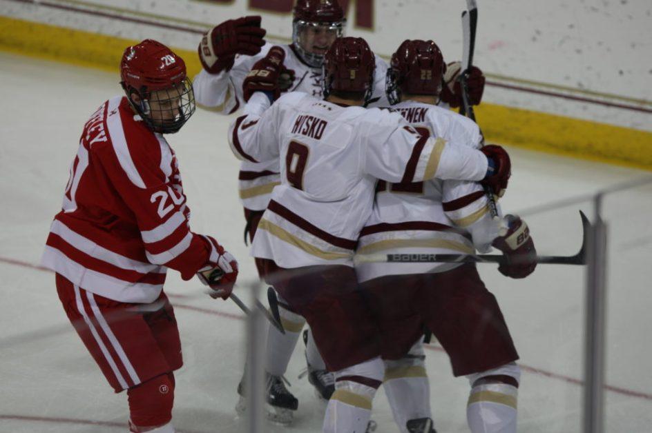 Hutsko Leads Eagles to Comeback Win Over BU