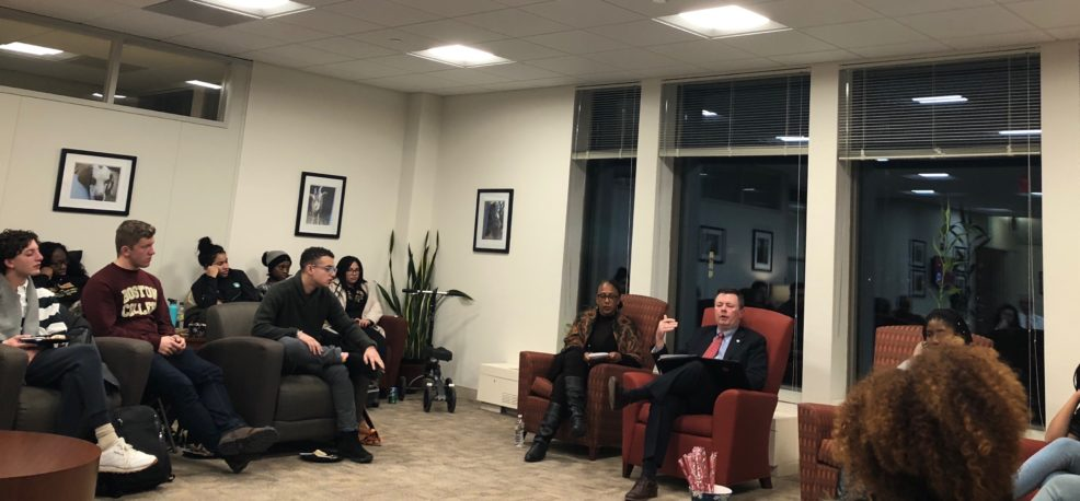 Lochhead, Moore Discuss Diversity and Inclusion With Student Leaders in Wake of Racist Incident