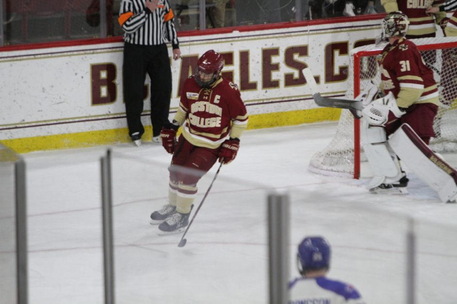 Poor Second Period Dooms Eagles to Defeat against Riverhawks