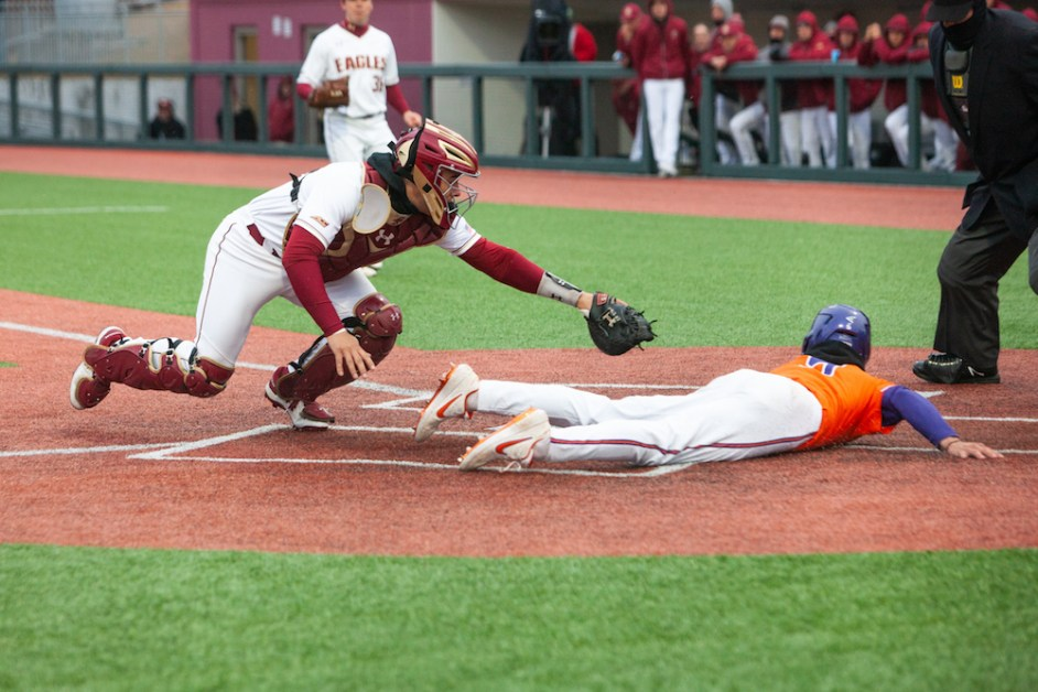 Metzdorf Tagged for Seven Runs as BC Falls to Clemson