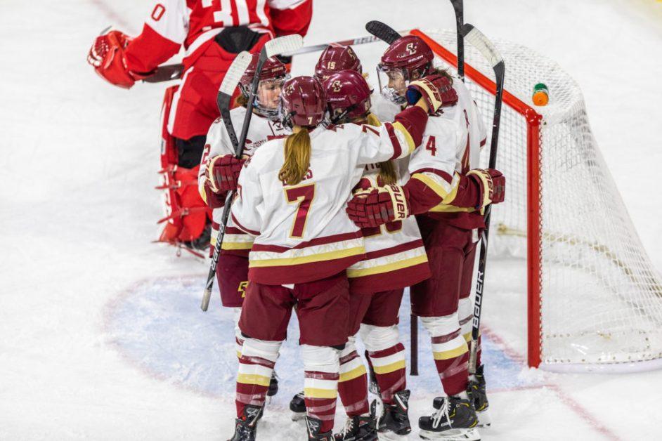 Eagles Dominate BU, Advance to Hockey East Tournament Final