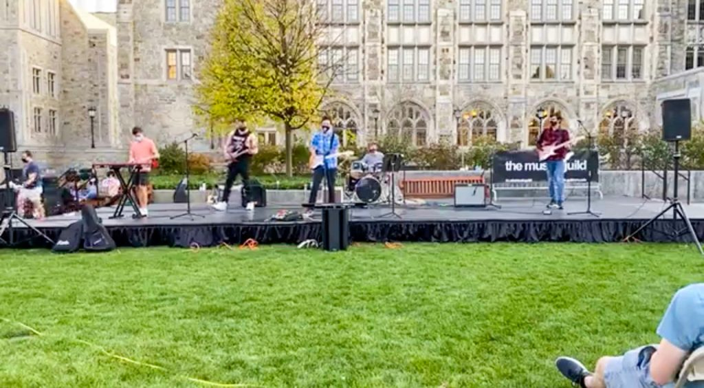 Fall Showcase Features Socially Distanced Live Music