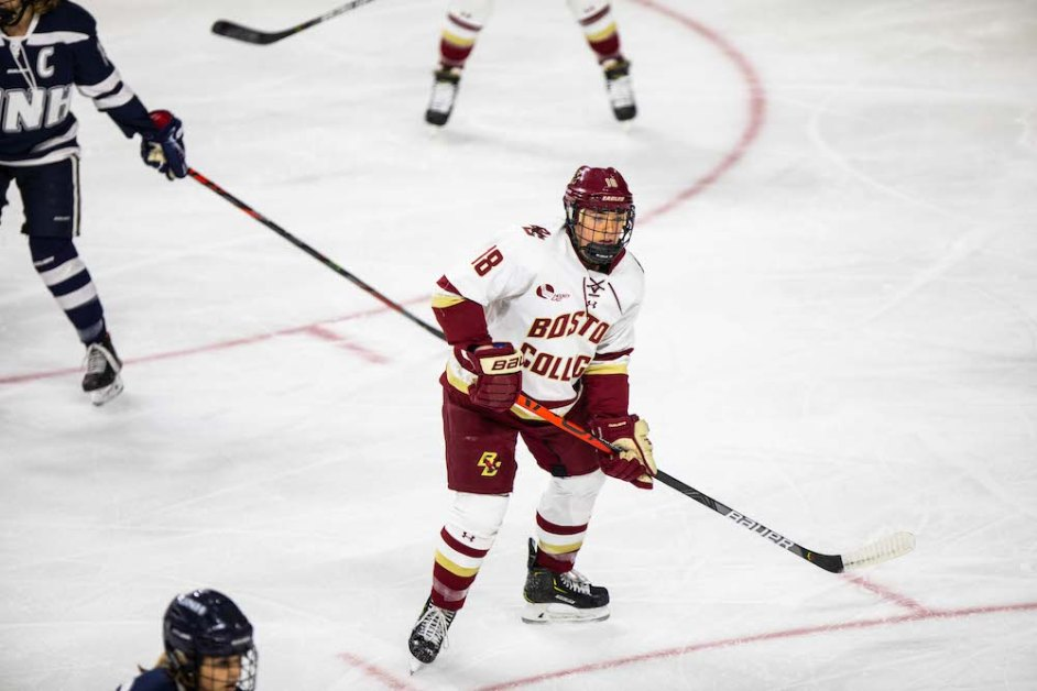 Browne, Tulchinsky Each Notch Two Goals in 5-3 Win Over UConn