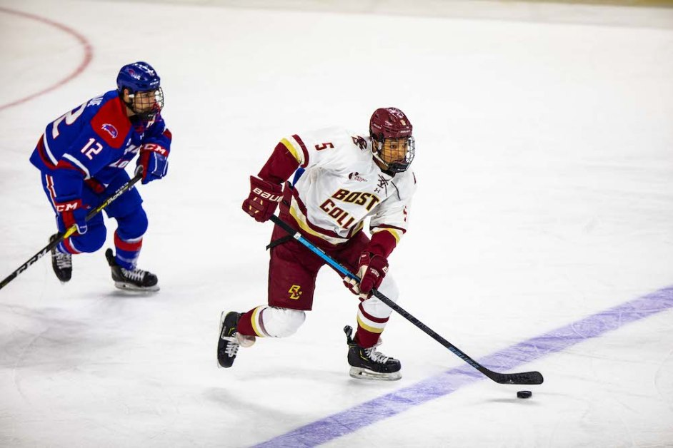 Sophomore Line Shines in Blowout Victory Over UMass Lowell