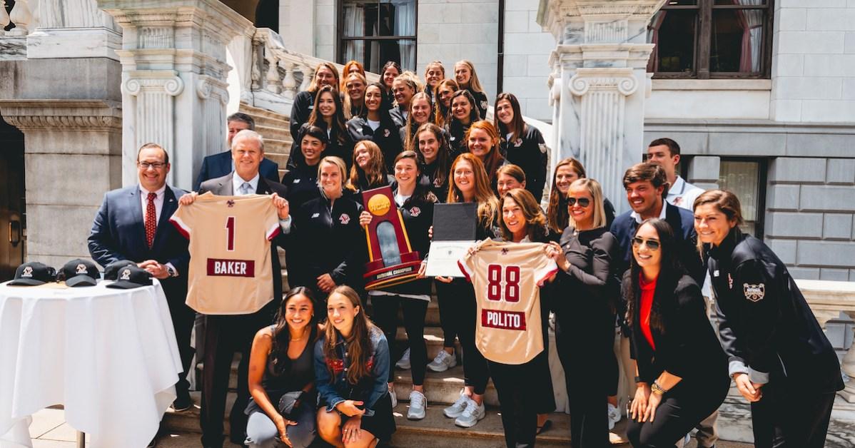 Gov. Baker Celebrates BC Lacrosse at State House
