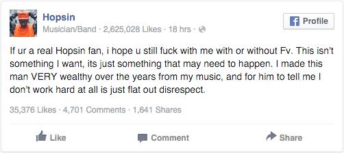 Hopsin Threatens To Leave Funk Volume - Juggalo News