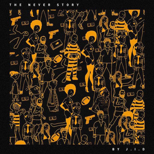 Dreamville J.I.D The Never Story album cover art