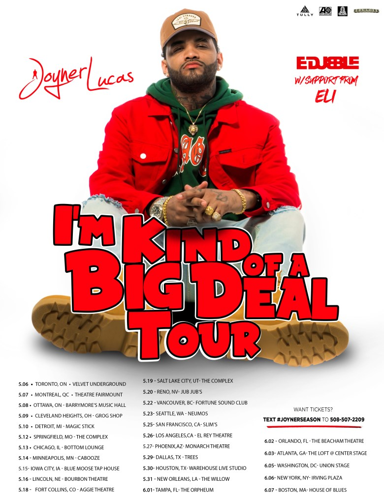 i'm kind of a big deal tour chris brown joyner lucas