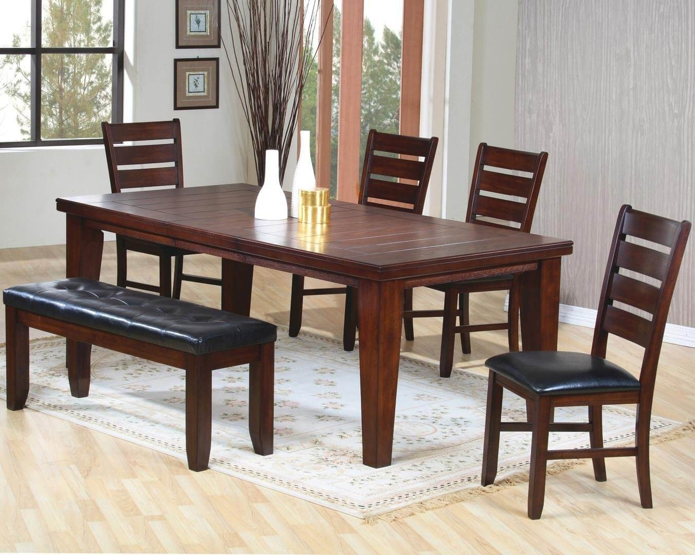 26 Dining Room Sets  Big and Small  with Bench Seating  2018  26 Dining Room Furniture Sets with a Bench