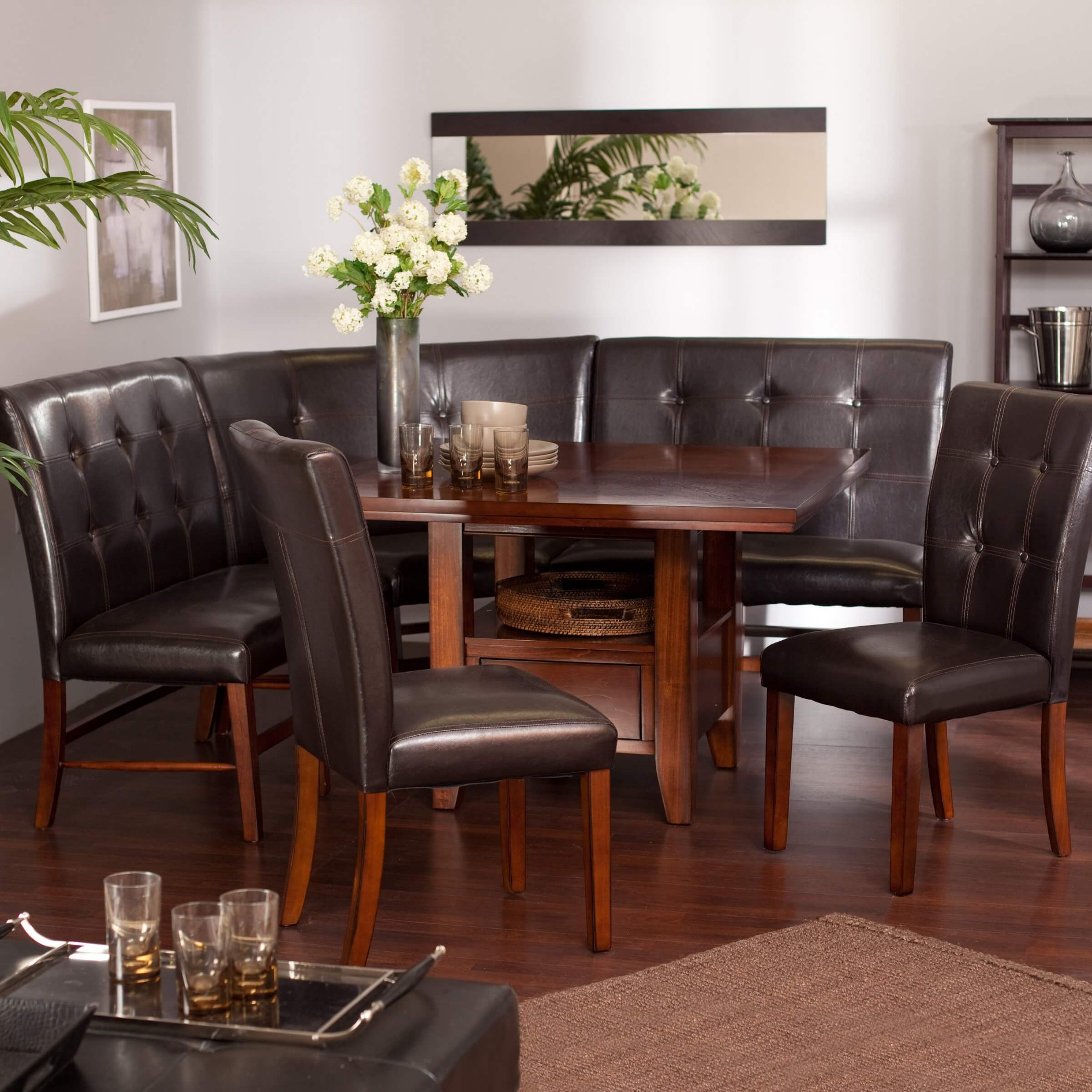 ^ ontemporary orner Nook Dining Set. simple tips for beautiful ...