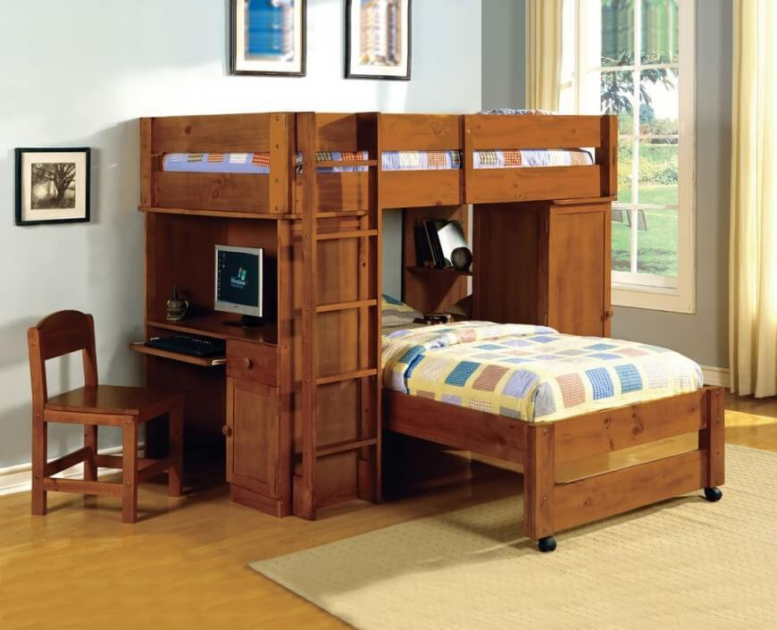 Incredible Modular EverBlock       by EverBlock Systems 25 Awesome Bunk Beds With Desks  Perfect for Kids