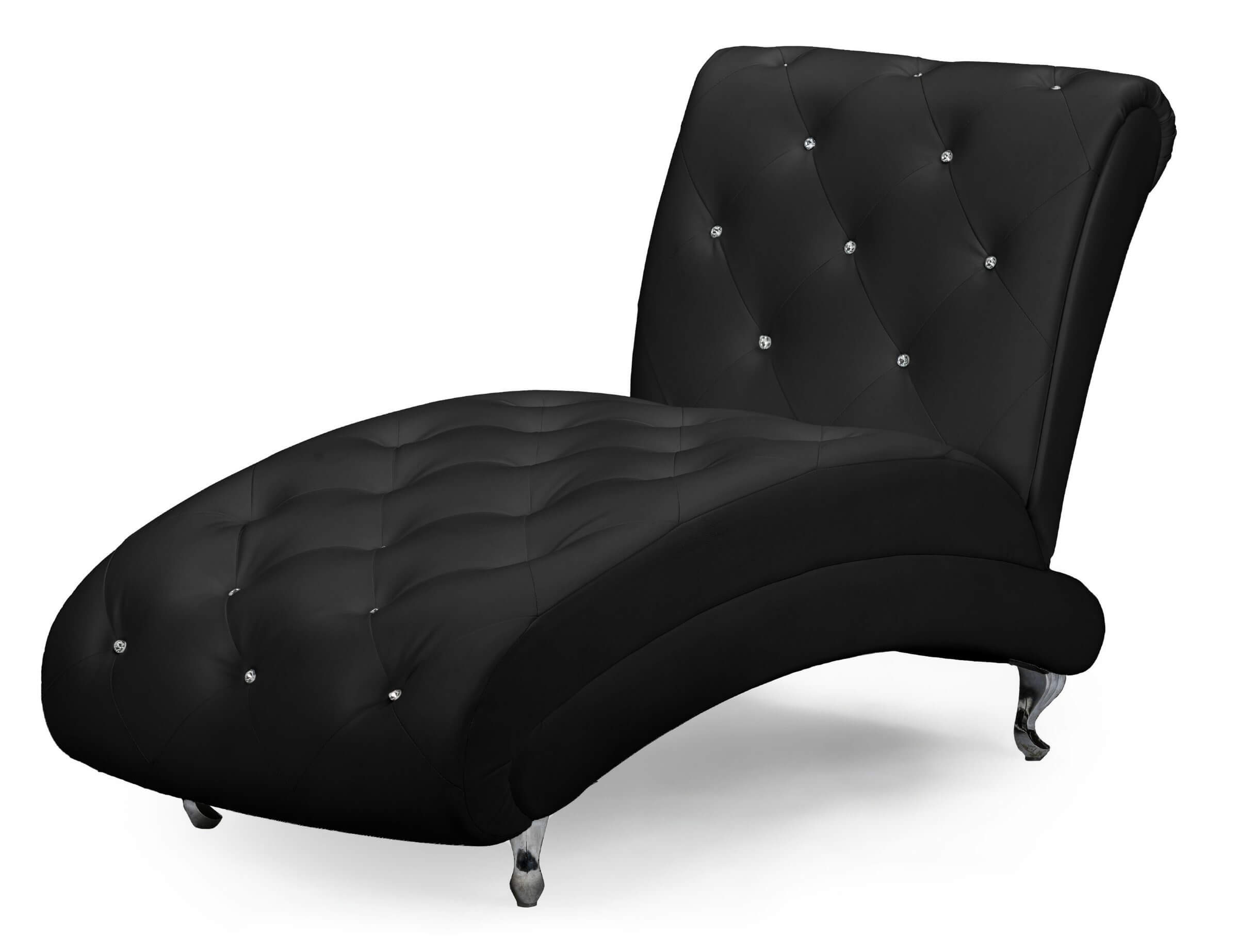 Tufted Chaise with Crystal Buttons