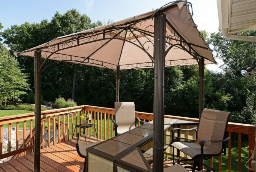 26 Portable Gazebos That Will Keep the Bugs Out  The aluminum swirls at the top of this portable gazebo add style to an  otherwise nondescript